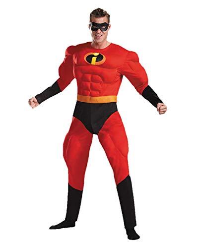 Mr. Incredible Muskel Kostüm für Herren an Comic Con & Fasching M/L