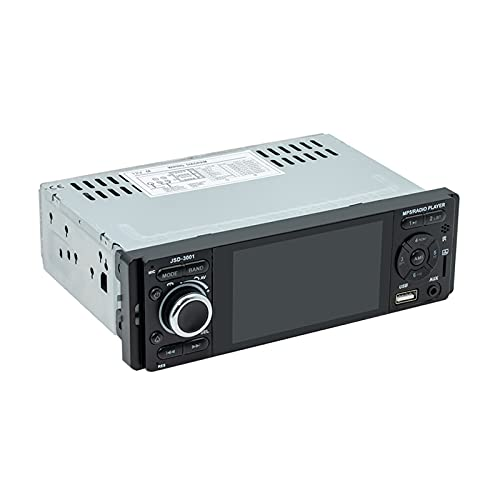 strimusimak Reproductor MP5 para Coche, Luces De Colores Bluetooth, Reproductor Multimedia, Imagen De Reserva 3001, Pantalla Táctil De 4 Pulgadas para Vehículos, Negro