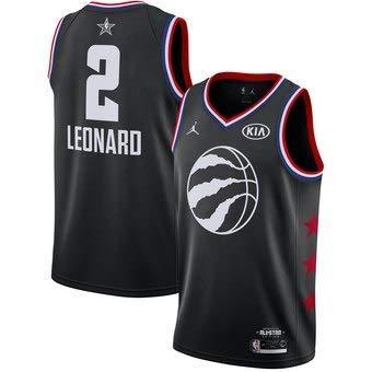 Lalagofe Kawhi Leonard Nero, all Star Game 2019 Toronto Raptors #2 Basket Canotta Maglia Jersey City Edition, Un Nuovo Tessuto Ricamato, Stile di Abbigliamento Sportivo (M)
