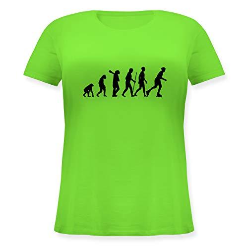 Evolution - Inliner Evolution - L (48) - Hellgrün - Inlineskaten - JHK601 - Lockeres Damen-Shirt in großen Größen mit Rundhalsausschnitt