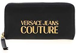 Versace Jeans - Cartera de metal para mujer con logotipo negro - E3VWAPL171879899