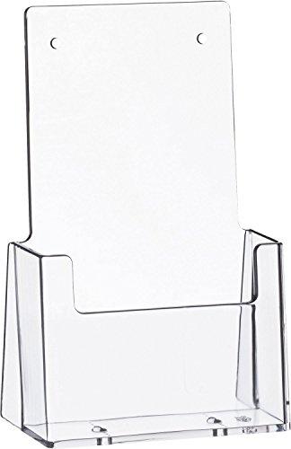 """Helit H2351002 - Tischprospekthalter \""""the helpdesk\"""" 1 x 1/3 DIN A4, glasklar"""