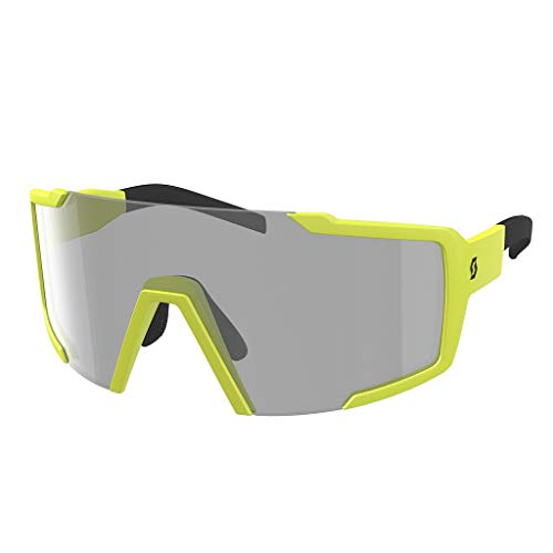 Scott Shield LS Fahrrad Sonnenbrille gelb/grau Light Sensitive photochrom