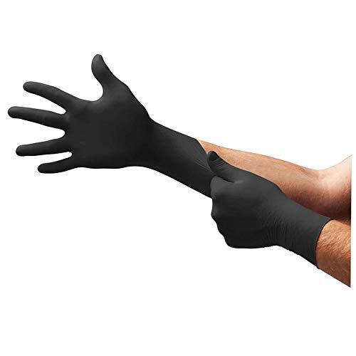 Ansell 100x Einweghandschuhe schwarz 7 Microflex, Einweg Handschuh schwarz Gr. 7