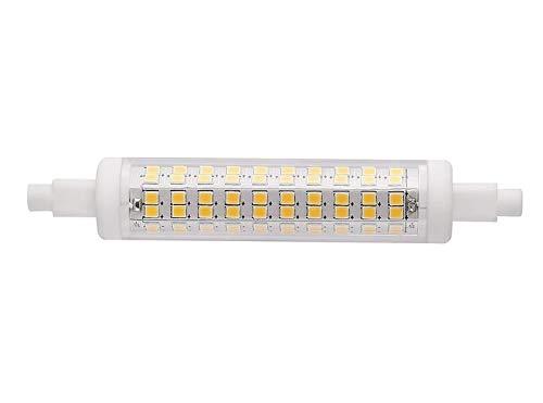 LED Lampe R7S DIMMBAR Retrofit - 118 mm x 20 mm - 10 Watt - 1200 LUMEN - Warmweiß 2700 Kelvin - 360° Ausstrahlung - entspricht ca. 100 Watt Halogenstablampe. Ideal für Deckenfluter