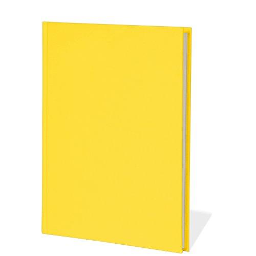 Semikolon (351279) Notizbuch Classic B5 blanko sun (gelb) - Notiz- und Sketch-Buch - 144 Seiten mit cremeweißem 100g/m²- Papier