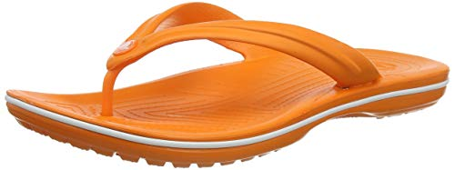 Crocs Crocband Flip, Chanclas Unisex-Adult, Naranja (Orange/White), 48/49 EU