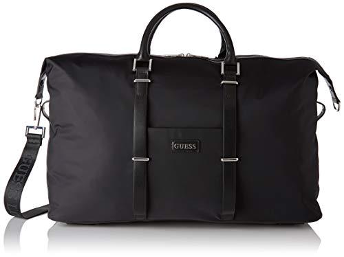 Guess Men's New Milano Weekender Shoulder Bag, Black, 26x28x55 Centimeters (W x H x L)
