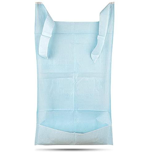 PimPam Factory - Pack de 125 Baberos Desechables para Adultos de 36 X 66 cm | Fabricados en España | Baberos de un solo Uso con Bolsillo Recogedor