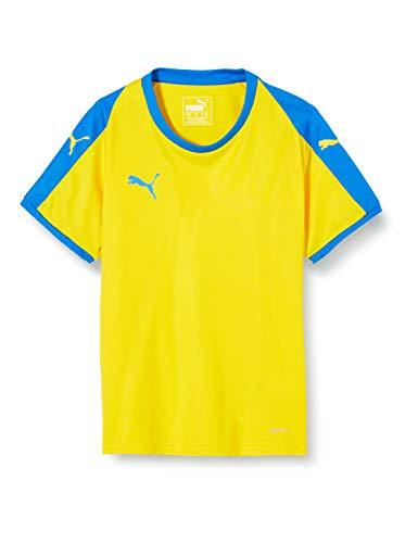 PUMA Liga Jersey Jr, Maglietta Unisex-Bambini, Giallo (Cyber Yellow/Elec Blue), 128