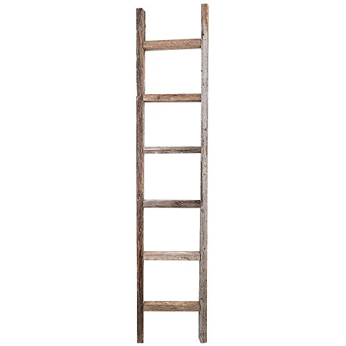 Decorative Ladder – Reclaimed Old Wooden Ladder 6 Foot Rustic Barn Wood