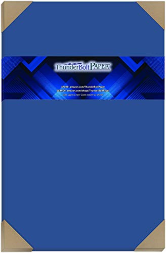 25 Bright Royal Blue 65# Cardstock Paper 12 X 18 (12X18 Inches) Large|Poster Size - 65Cover/45Bond Light Weight Card Stock - Bright Printable Smooth Paper Surface by ThunderBolt Paper