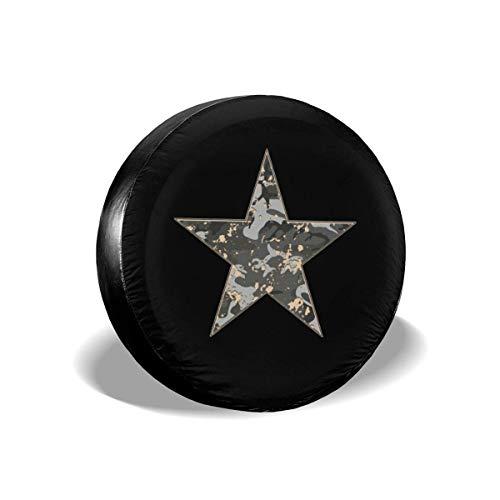 GOSMAO Fundas para neumáticos para fanáticos de los Deportes Camouflage Star Universal para Ruedas de Repuesto, Apto para remolques, caravanas, SUV y Muchos vehículos de 16 Pulgadas