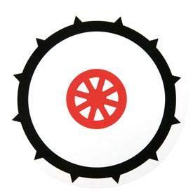 Disque 90 pneu cloute adhesif ADNAuto