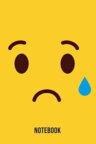 Notebook: Sad Tear Emoji Emoticons Notebook,: Emoticons Notebook For Kids, social media emoticons Journal, Emoticon Face Themed Birthday, Emoji ... Emoji Stuff, 120 Pages, 6x9, Matte Cover.