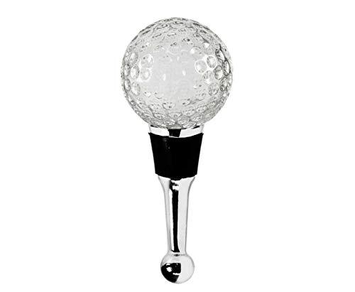 EDZARD Flaschenverschluss Golf für Champagner, Wein und Sekt, Höhe 10 cm, mit Gummidichtung, Golf Geschenk, Muranoglas-Art, Handarbeit (kleine Unebenheiten möglich)