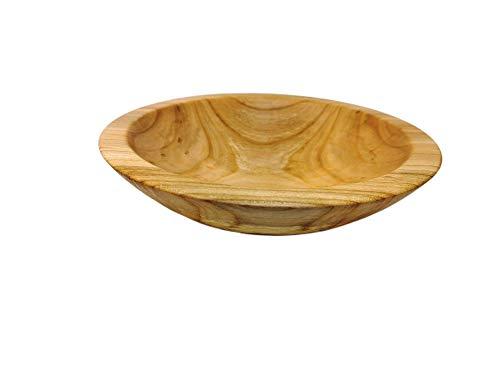 Holzschale Dekoschale Schale Obstschale Schlüsselschale Schmuckschale handgemacht gedrechselt rund aus Kirschenholz ∅ ca. 23,5 cm - H: ca. 6,5 cm
