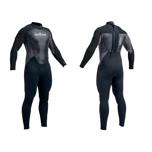Neptune Mens Full Length 32mm Wetsuit Surfing Sailing Jetski Canoe Swimming BlackBlack L Ht 60 62 Chest 42 44