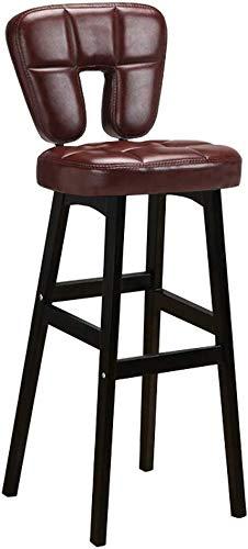 Sugewanjbd Kruk, ergonomisch, gevoerd, van leer, voor kantoor, keuken, balkon, bar, restaurant, café, kantoor, pub, balkon
