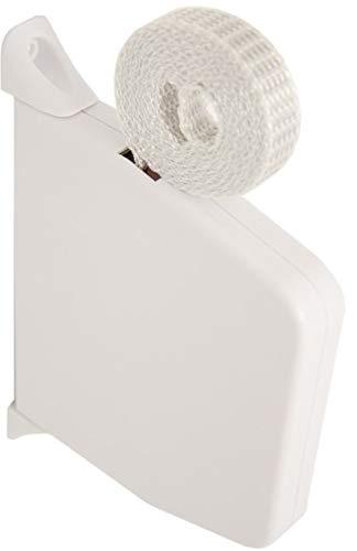 DIWARO.® Mini Rolladen-Aufschraub-Gurtwickler | Lochabstand 154 mm | schwenkbar | mit 5m Gurt | weiß
