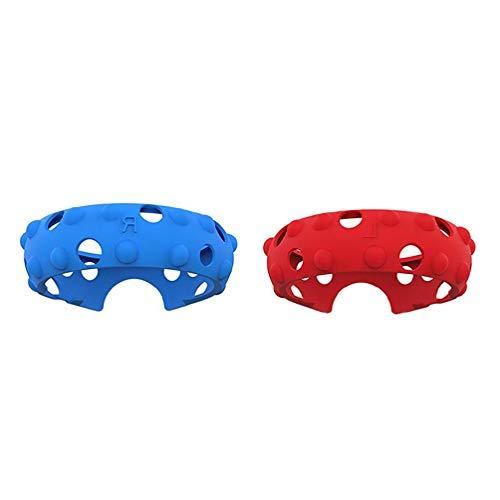 ZOUD Controller-Anti-Kollisionsschutz Silikon Ringabdeckung für Oculus Quest 1 oder Rift S Touch Controller-Zubehör (Rot & Blau)
