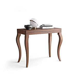 Mobili Fiver, Mesa Consola Extensible Classico, Nogal, 45 x 90 x 76 cm, Made in Italy