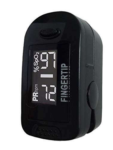 Concord BlackOx Fingertip Pulse Oximeter with Reversible Display, Carrying Case, Lanyard and Protective Cover