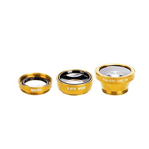 Gnc33Ouhen Mobile Phone Camera Lens Kit, 3 in 1 Lens kit,Macro Super Wide Angle Fisheye...
