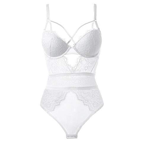 wit slank kant sexy wit jumpsuit met beha meisje kleine borst jumpsuit stijlnaam 75B Kleur
