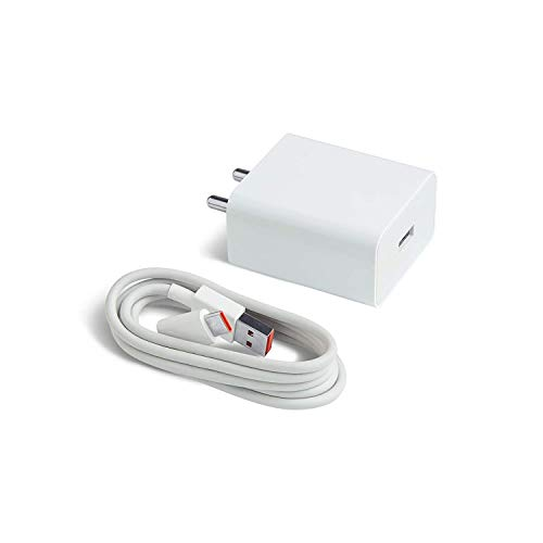Ultra Fast Type C Charger For ZTE nubia Red Magic 3 Original Type-C Mobile Charger Adapter Wall Charger | Type-C Charger Cable Fast Charging Mobile Charger Android Charger with 1 M Type-C Charging Data Cable (2.4 Amp, White )