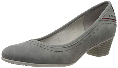 s.Oliver Damen 5-5-22301-34 Pumps, Grau (Graphite 206), 40