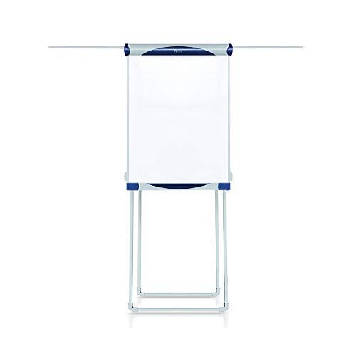 Certeo Flipchart mit Vierbein-Stativ und Seitenarmen | Höhenverstellbar | BxH 680 x 1000 mm | Whiteboard Tafel Schreibtafel