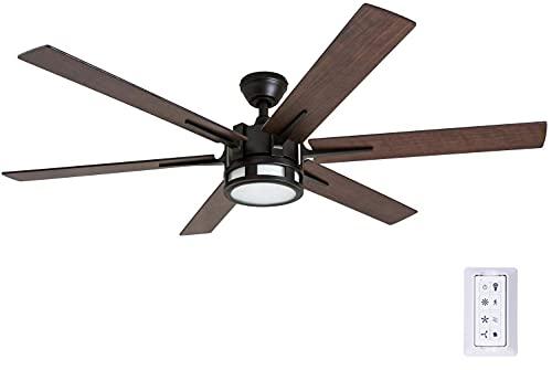 Honeywell 51036 Kaliza Modern Ceiling Fan with Remote Control, 56', Espresso