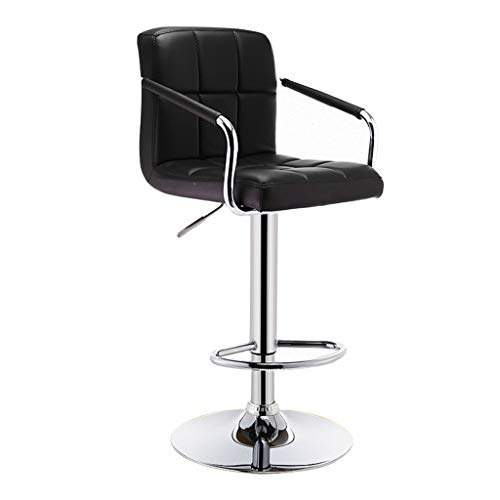 C-J-Xin Hoge krukken aan de balie, met armleuningen in hoogte verstelbare fauteuil Indoor Office Hotel Barkruk Keuken Lift Dining Chair Decoratieve kruk (Color : B, Size : 63-83CM)