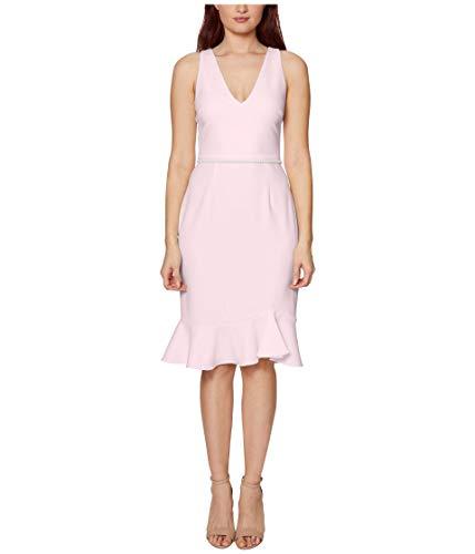 Betsey Johnson Tank Dress w/Pearl Trim Blush 4