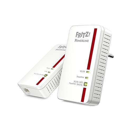 AVM FRITZ!Powerline 1240E/1000E WLAN Set (1,200 MBit/s, WLAN-Access Point, ideal für Media-Streaming oder NAS-Anbindungen, deutschsprachige Version, weiß)