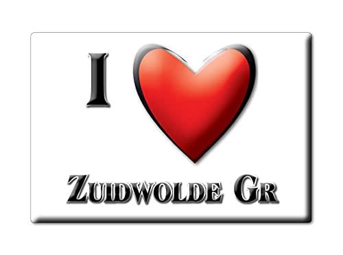 ZUIDWOLDE GR (A) FRIDGE MAGNET NETHERLANDS GRONINGEN SOUVENIR I LOVE GIFT PRESENT