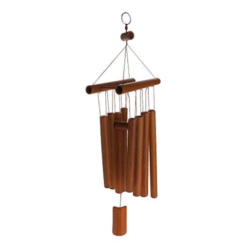 Sharplace Bambus Windspiel Klangspiel Wind Glockenspiel Hängen Windspiel Wind Chimes Dekoration - 58cm A