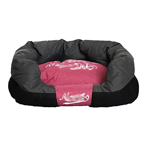 Cama para mascotas, perrera general de cuatro estaciones, cama para gatos, nido cuadrado de teflón fácil de limpiar Cojín extraíble y lavable cama para mascotas pequeñas y medianas,L-30*20*10in 7