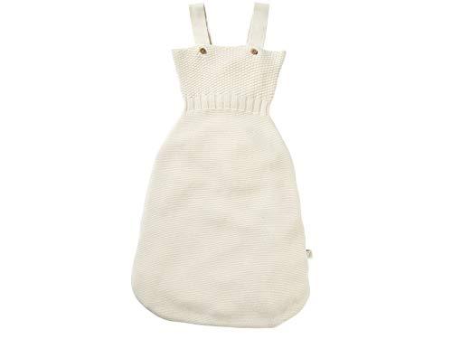 Bio Baby Strampelsack 100% Bio-Baumwolle (kbA) GOTS zertifiziert, Ecru, ca. 75 cm
