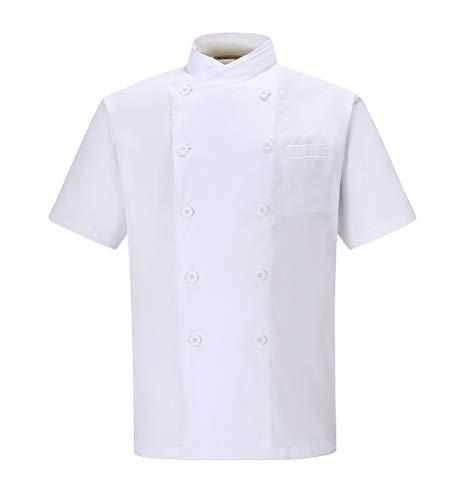Nanxson Herren Kochjacke B?ckerjacke Wei? Langarm Kurzarm Atmungsaktiv K¨¹Che Uniform Arbeitsjacke CFM0029