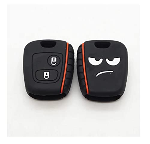 FOBTRONICS Nueva llave de silicona de 2 botones para Citroen C1 C2 C3 C4, para Saxo, Xsara, para Berlingo, para Picasso para Peugeot 107 206 207 307 A93