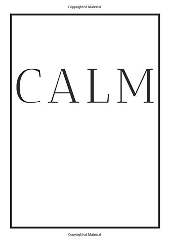 Calm: A decorative book for coffee tables, bookshelves, bedrooms and interior design styling: Stack feel books to add decor to any room. Monochrome ... own home or as a modern home decoration gift.