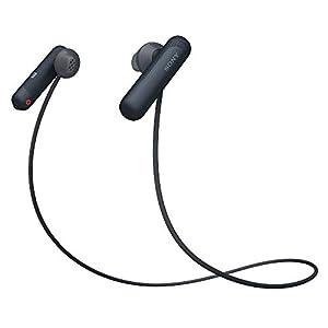 Sony WH-1000XM4 Wireless Noise Canceling Over-Ear Headphones (Silver) with Sony WI-SP500 in-Ear Sports Wireless Headphones (Black) Bundle (2 Items)