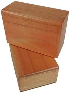 Kakaos 4 Inch Wood Yoga Blocks (Set of Two Blocks)