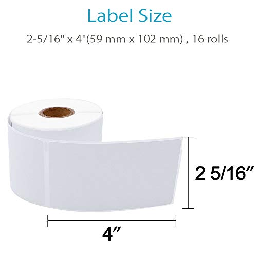 """COLORWING Compatible Shipping Labels Replacement for 2-5/16"""" x 4"""" Dymo Labels 30256 LW Large Shipping Labels 59 mm x 102 mm, White, for Dymo LabelWriter 450 Twin Turbo and Rollo Printers, 12 Roll Photo #2"""