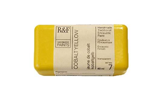 R&F Encaustic 40ml Paint, Cobalt Yellow by R&F Encaustic Paints