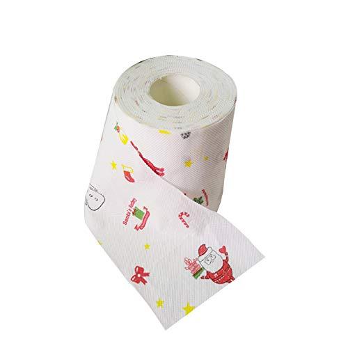 MENGZHEN Papel de baño de santa claus papel higiénico de feliz navidad para la decoración del hogar de la sala...
