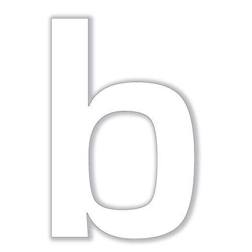 Queence | Premium Designer Hausnummer Hausnummernschild Zahl | Wunsch-Nummer kombinierbar – 2 Farben wählbar | UV-Wetter-Beständig | Haustür | Ferienhaus, Größe:Weiß, Farbe:b