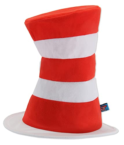 Dr. Seuss The Cat in The Hat Plush Costume Red & White Striped Hat